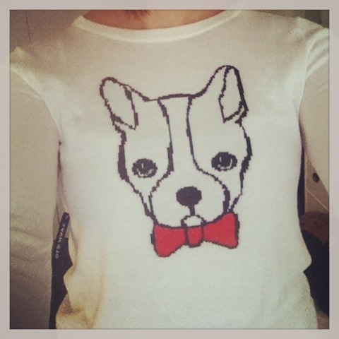 I'm 100% sure about this sweater though. PUPPIES AND BOW TIES!